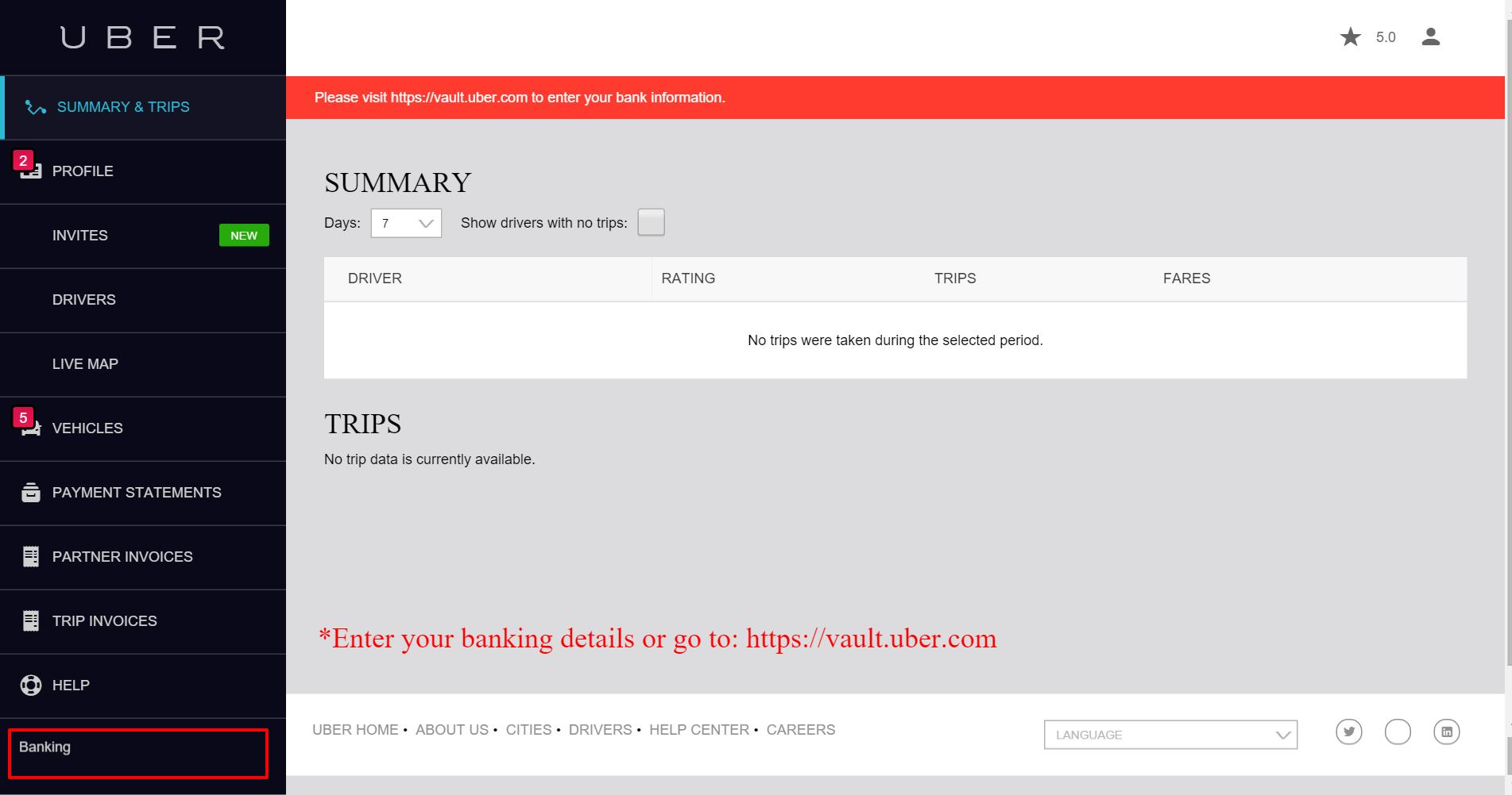 Uber Cebu Partner Registration Banking Details